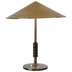 Elegant Danish Brass Table Lamp from Lyfa Designed by Bent Karlby