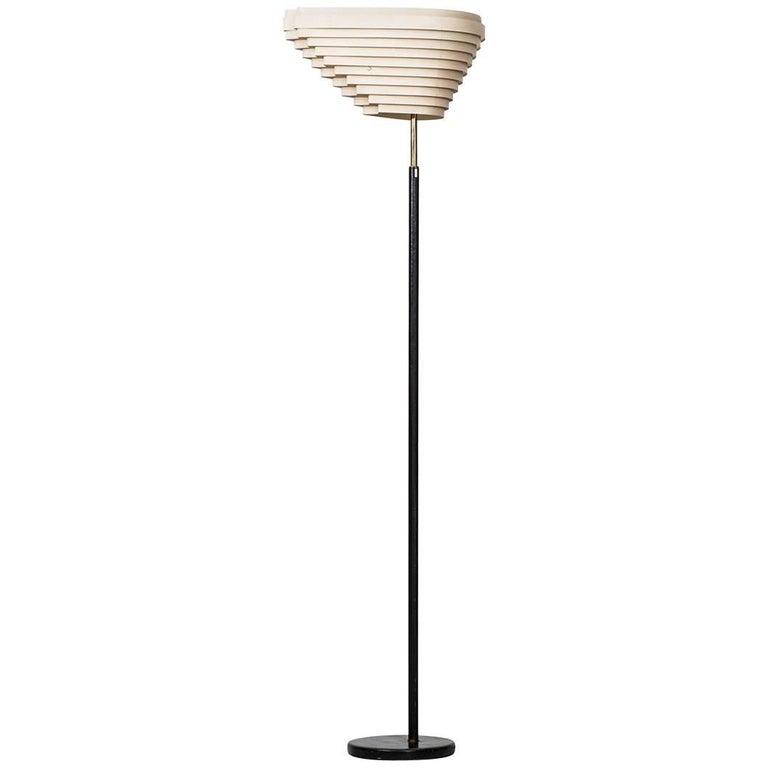 Alvar Aalto Angel Wing Floor Lamp Model A805 by Valaistustyö in Finland