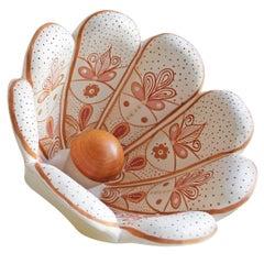 Ni Table Lamp Traditional Handmade in Ceramic and Hardwood by Brazilian Yankatu