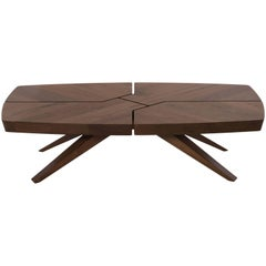 Munjoy Coffee Table, Handcrafted, Modern