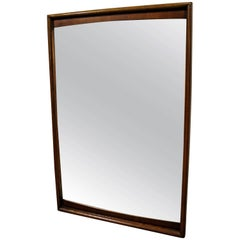 Mid-Century Modern Kagan Style Walnut Mirror by United Furniture