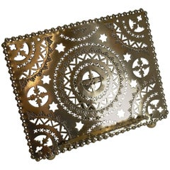 Antique English Pieced or Reticulated Lectern / Book Rest, circa 1880