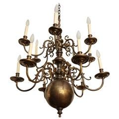 Twelve-Light Dutch Chandelier