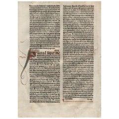 Valley of Dry Bones, Ezekiel 37, 1482 Latin Bible Leaf Medieval Incunabula