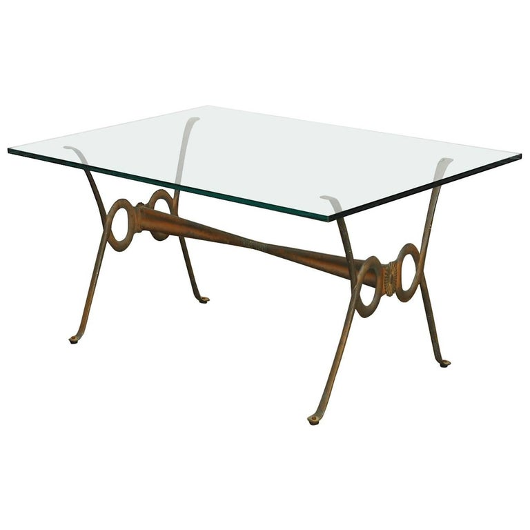 Maison Bagues Style French Bronze Coffee Cocktail Table