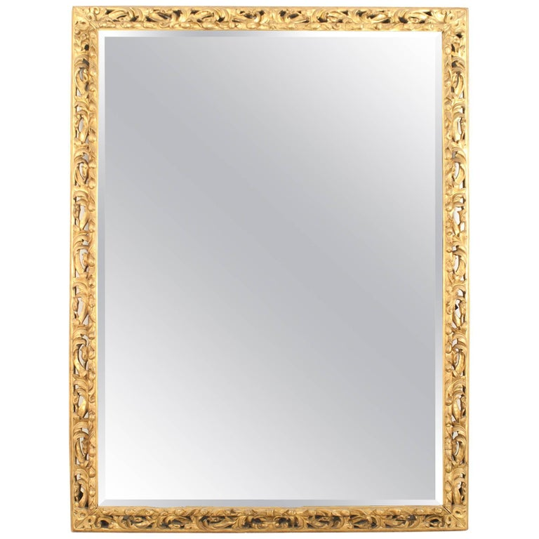 French Louis XV Style '19th Century' Giltwood Frame with Bevelled Mirror