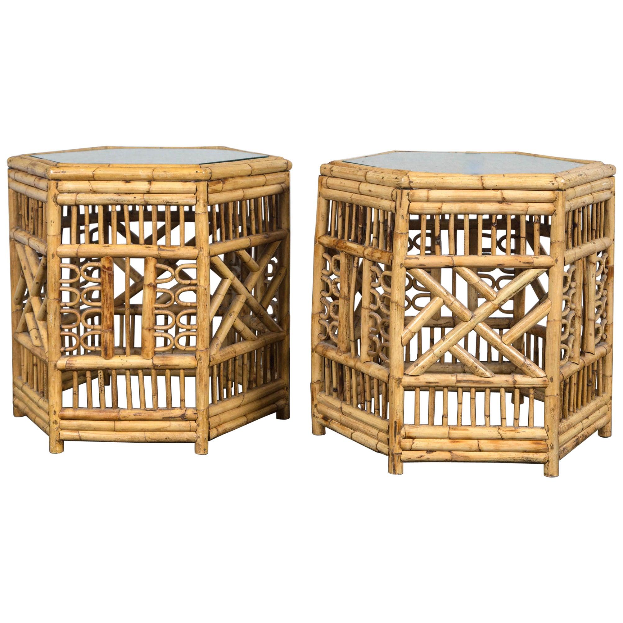 Nice Hexagonal Moroccan Antique Inlay Side Table Moorish Tabouret at ...
