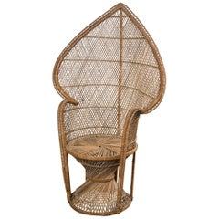 Petite Rattan Peacock Chair