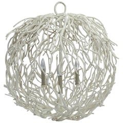 Coral or Twig Globe Pendant Chandelier, Italy
