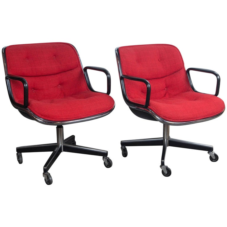 Pair of Pollock Desk Chairs by Knoll For Sale