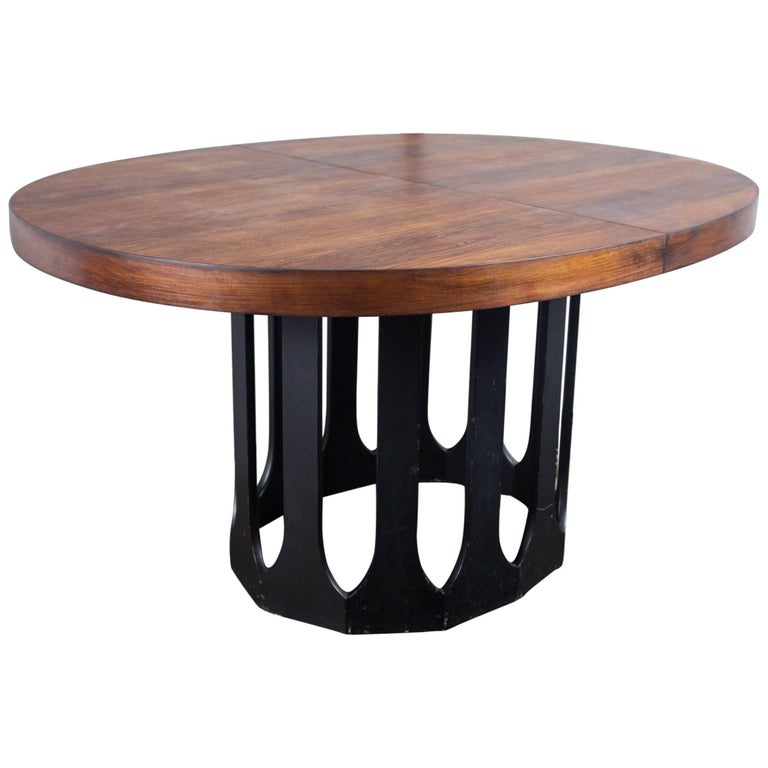 Harvey Probber Dining Table with Two Leaves For Sale