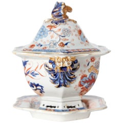 Early 19th Century Mason's Patent Ironstone Soup Tureen with under Plate