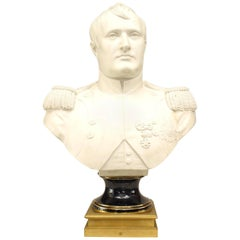 French Empire Style 'Late 19th Century' Lifesize Parian Bust of Napoleon