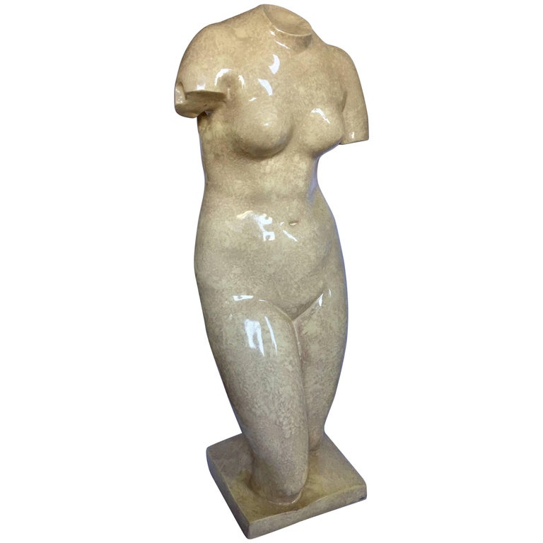 Large Mid-Century Modern Classical Form Plaster Sculpture