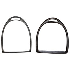 Pair of Cast Iron Stirrups from Midcentury America
