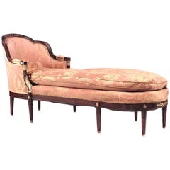 French Empire Style 19th Century Mahogany Chaise
