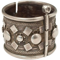 Early to Mid-20th Century Silver Tribal Bracelet, Rashaida People, North Africa