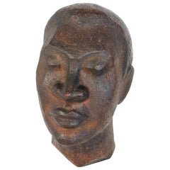 1940s African Bust of Male