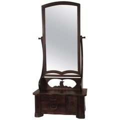 1920s Asian Shaving Mirror with Draws