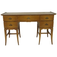 1940s Hollywood Regency Desk