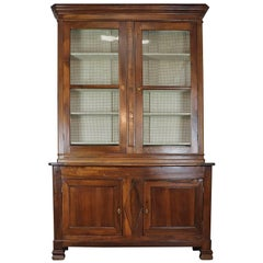 19th Century Italian Walnut Wood Bookcase or Sideboard