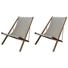 Adjustable Teak Lounge Chairs