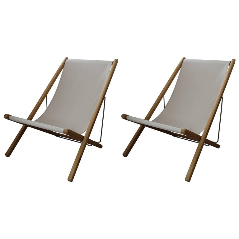 Adjustable Teak Lounge Chairs by Gloster