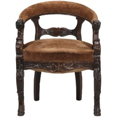 Antique French Desk Chair, circa Late 1800s