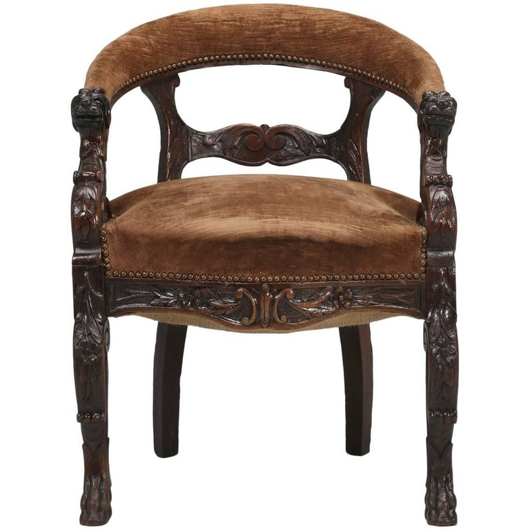 Antique French Desk Chair Circa Late 1800s For
