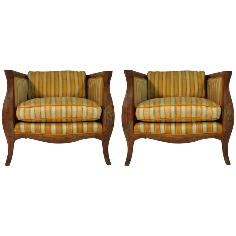 Pair of 1960s French Style Club Chairs