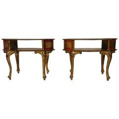 1960s Florentine Italian End Tables
