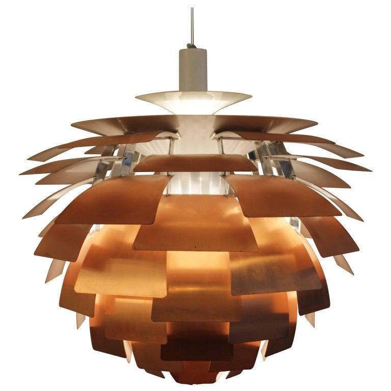 """Early Copper """"Artichoke"""" Pendant Lamp by Poul Henningsen"""