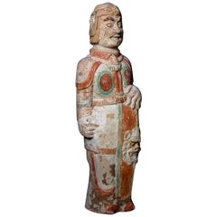 Terracotta Warrior with Shield - Northern Wei Dynasty, China '386-557 AD'