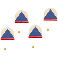 Set of Four Scandinavian Post-Modern Wall Lights, 1980s