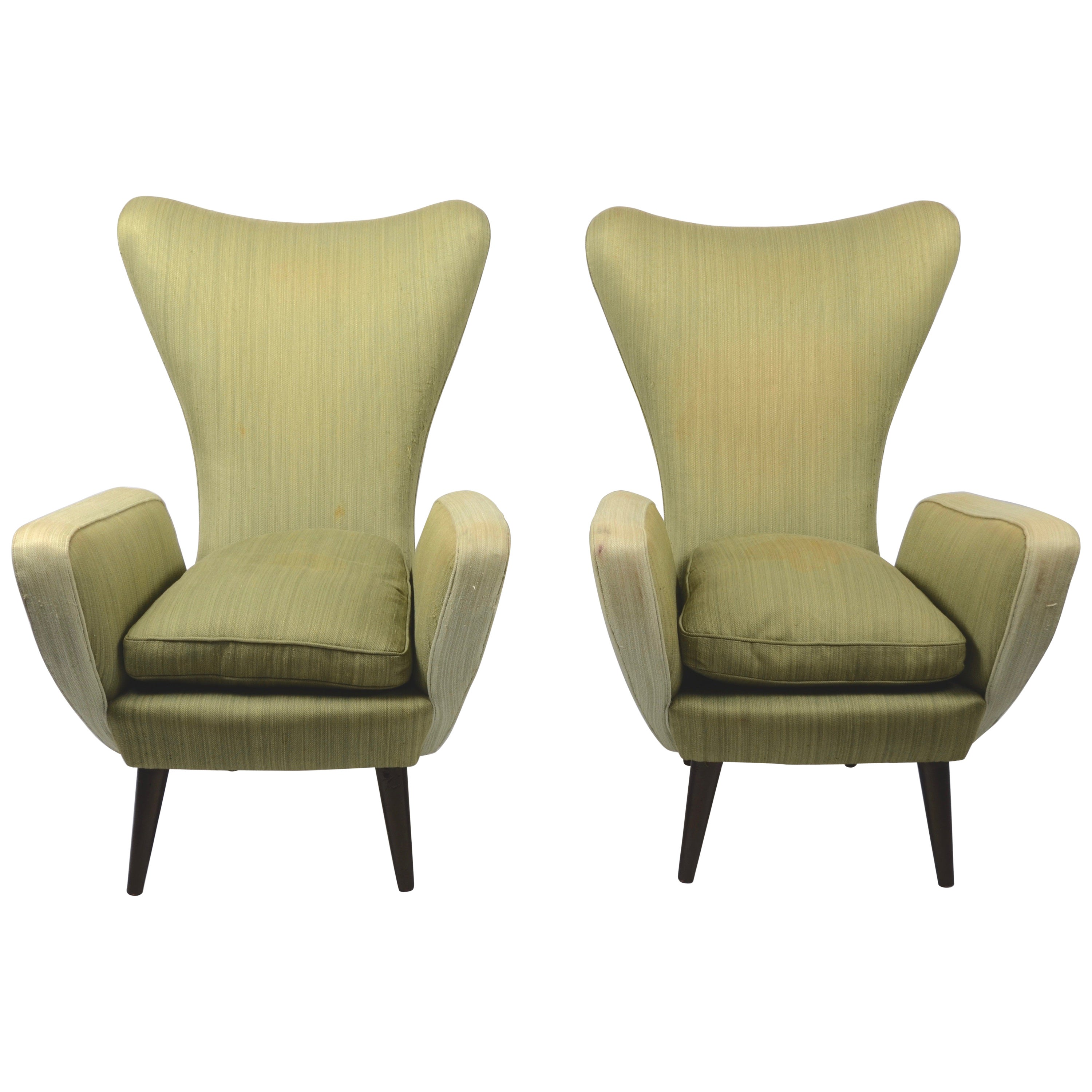 Pair of Lounge Chairs, Italian, 1950s