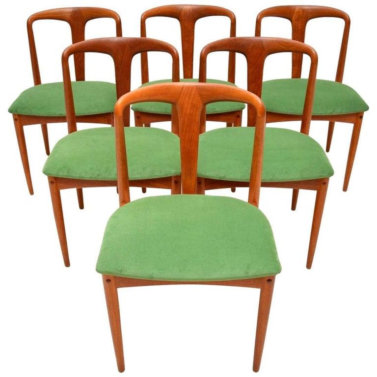 1960s Set of Six Danish Teak Dining Chairs by Johannes Andersen