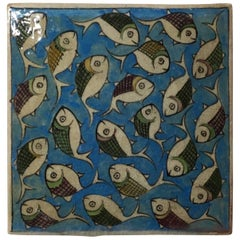 Vintage Ceramic Persian Tile