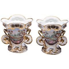 Large Old Paris Vases