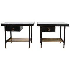 Jacques Adnet, Pair of Side Tables, 1950s