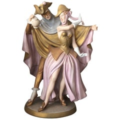 19th Century Royal Dux Figure Dancing Couple