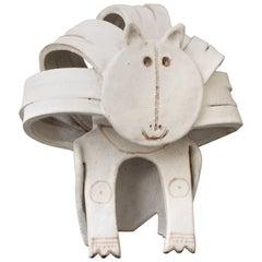 Ceramic Cat Sculpture by Bruno Gambone, circa 1970s