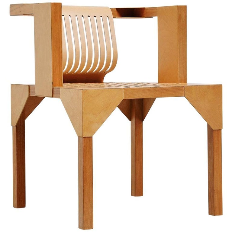 Ruud Jan Kokke Modernist Armchair Holland, 1986