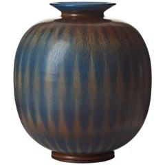 Berndt Friberg Unique Stoneware Vase for Gustavsberg, 1960