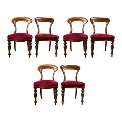Six Antique Victorian Dining Chairs, English, circa 1840
