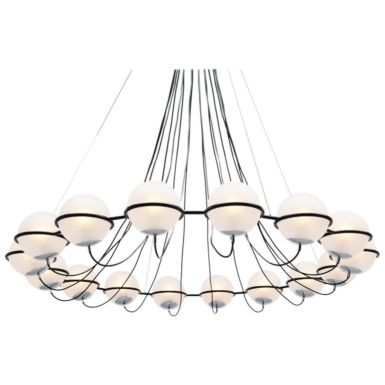 Gino Sarfatti Attributed Chandelier Arteluce, Italy, 1960