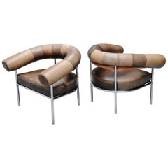 De Sede Ox Shaped Lounge Chairs, Switzerland, 1970