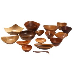 Collection of Teak Bowls