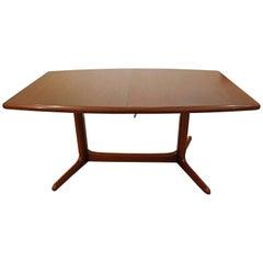Danish Modern Teak Extension Surfboard Dining Table