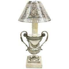 Early 19th Century small Silver Belgian lamp, 1814-1831