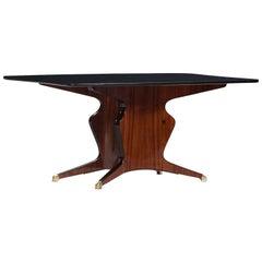 Osvaldo Borsani Rosewood Dining Table Manufactured by Fossati, Attilio & Arturo